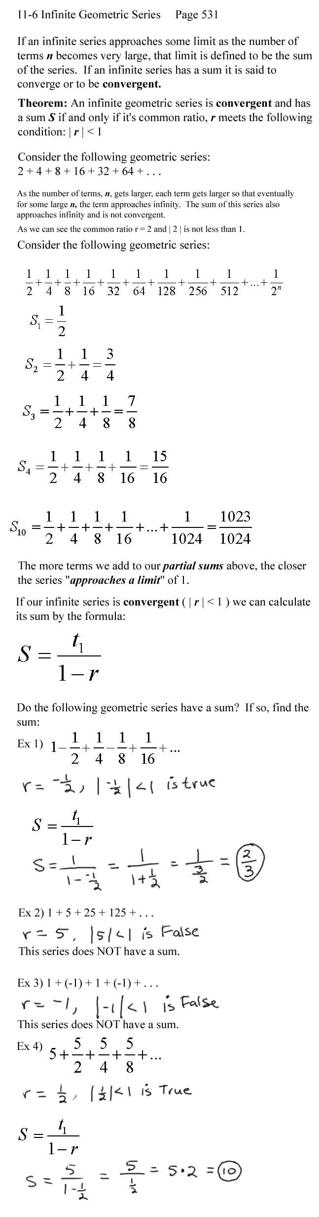 Arithmetic and geometric sequences worksheet algebra 1