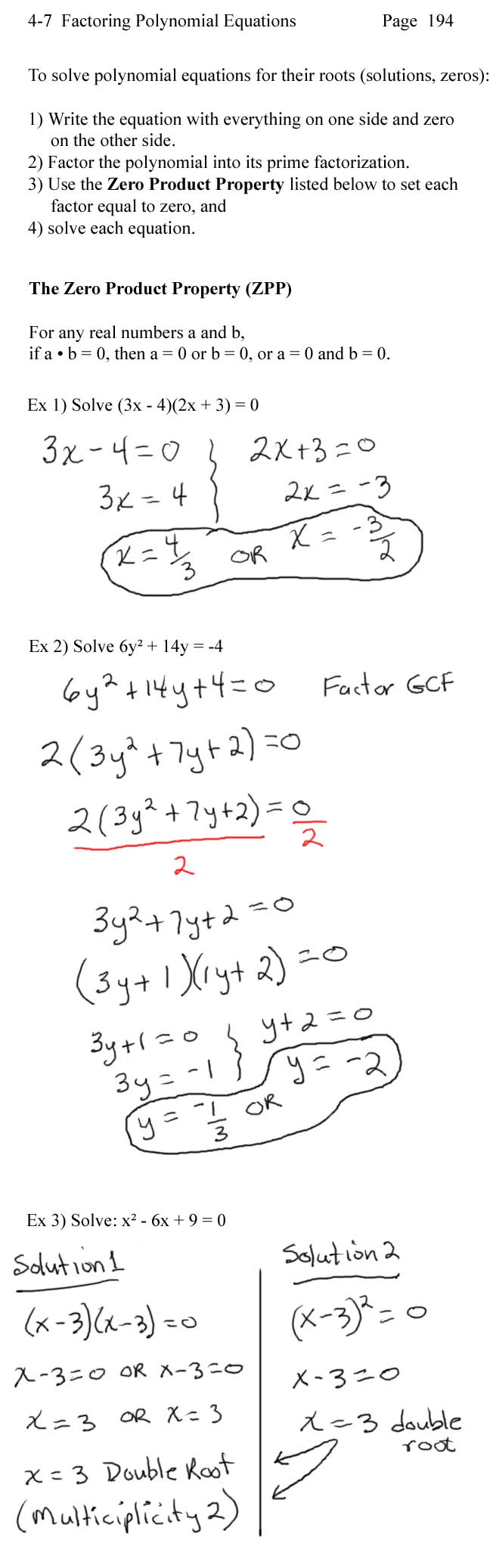 Lecture Notes – Algebra 2 Factoring Polynomials Worksheet